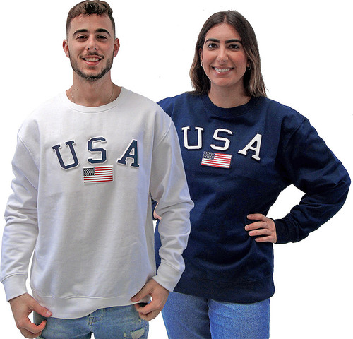 4000-USA White & Navy.