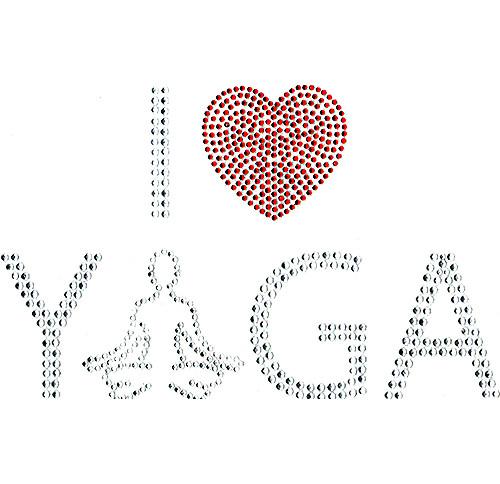 I Love Yoga Design Iron-On
