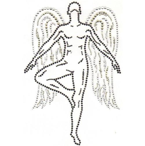Yoga-practicing Angel Design Iron-On