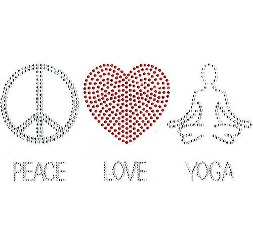 Peace, Love, Yoga Design Iron-On