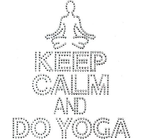 Keep Calm & Do Yoga Design Iron-On