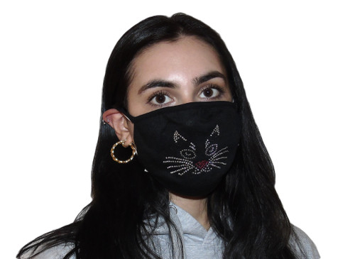 Decorated Oval Fashion Mask (KITTY FACE design)