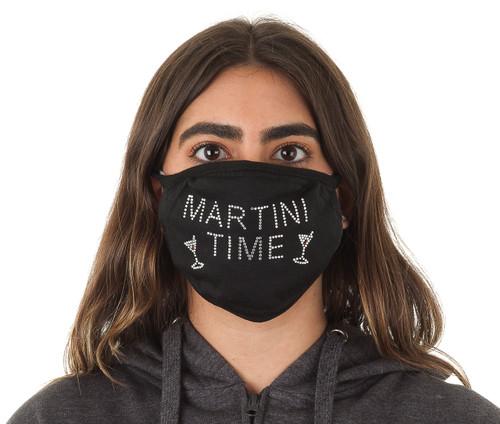 Decorated Oval Fashion Mask (MARTINI TIME design)
