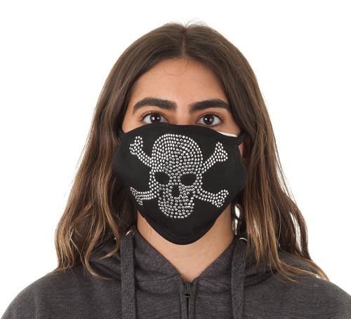 Decorated Oval Fashion Mask (SKULL design)