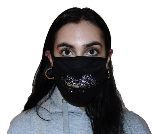 Decorated Oval Fashion Mask (MOTORCYCLE design)