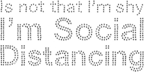 """""""I'm Social Distancing"""" Iron-On Design (S101821)."""