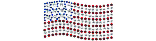 """USA Flag"" Iron-On Design (CS100380)."