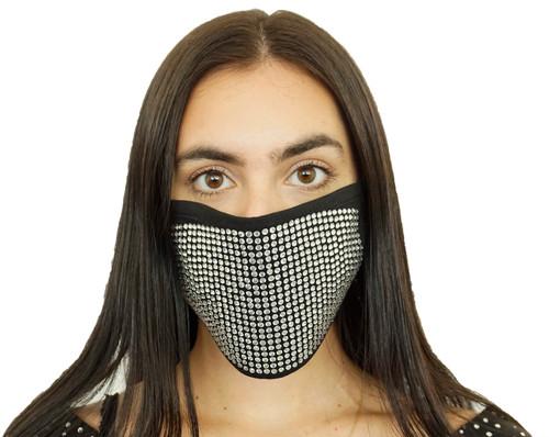 Decorated Oval Fashion Mask (LARGE STONES)
