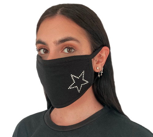 Decorated Oval Fashion Mask (STAR Design)