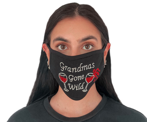 Decorated Oval Fashion Mask (GRANDMAS GONE WILD Wine Design)