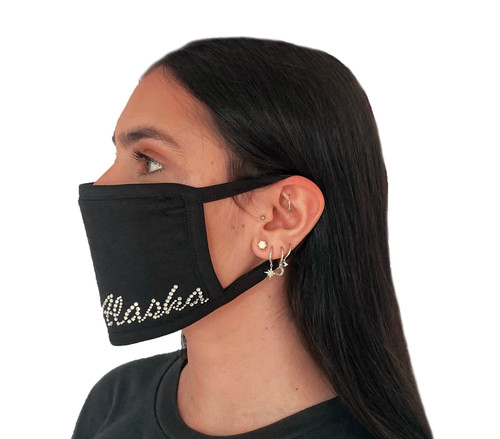 Decorated Oval Fashion Mask (CUSTOM WORD Design)