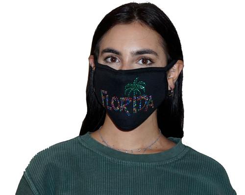 Decorated Oval Fashion Mask (Florida Design)