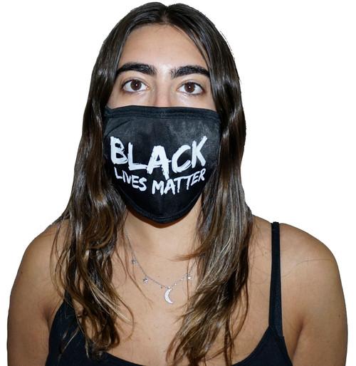 Decorated Oval Fashion Mask (BLACK LIVES MATTER)