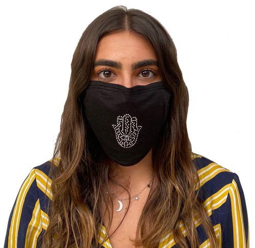 Decorated Oval Fashion Mask (Small Hamsa)