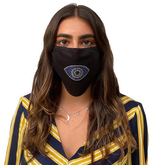 Decorated Oval Fashion Mask (Evil Eye)