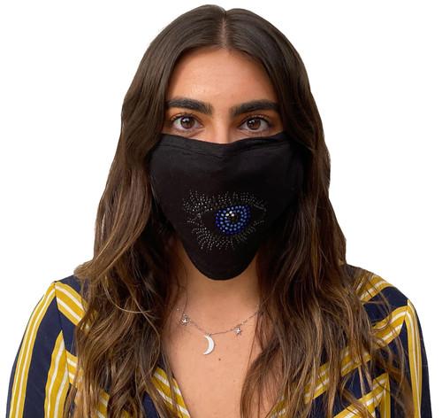 Decorated Oval Fashion Mask (Small Eye with Eyelashes)