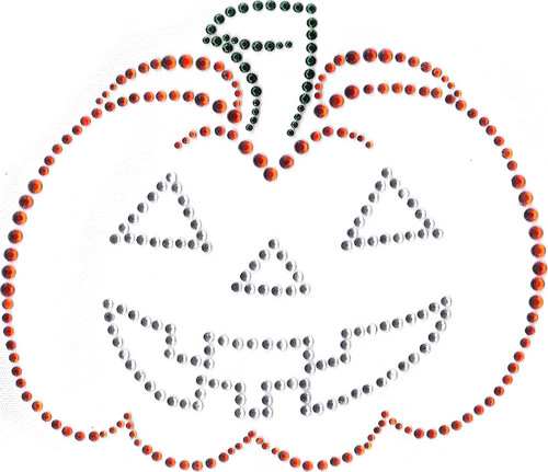 Spooky Pumpkin Iron-On Design (S4389) shown.