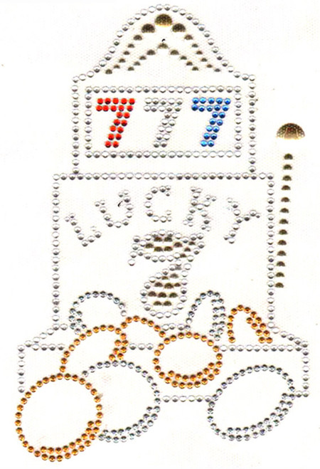 Lucky 7 Iron-On Design (S3346L) shown.