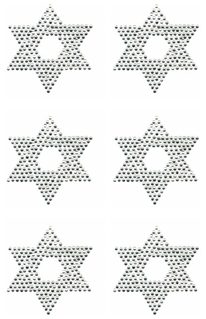 """Stars of David"" (Filled) Iron-On 6/sheet Design (S9157)"
