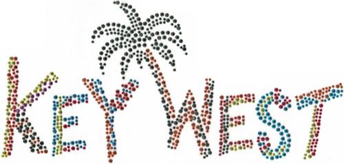 """Key West"" with Palm Iron-On Design (S7086-KYW)."