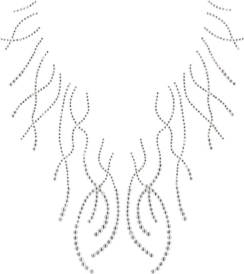 """""""Fancy Curly Lines Split-Neckline for 7011 only"""" Iron-On Design (S101581)."""