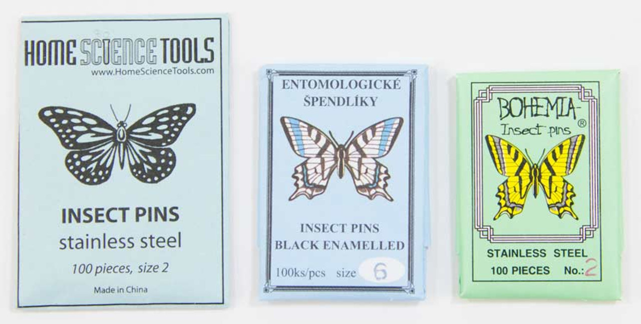 for Entomology Silver Size 0 Set of 100 Hemobllo Stainless Steel Insect Pins Dissection and Butterfly Collections