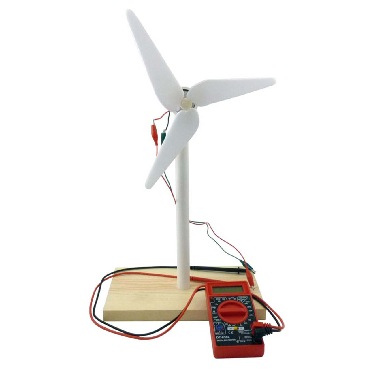Stellen Sie Mini Wind Generator Miniatur LED Fan Wind Turbine Generator