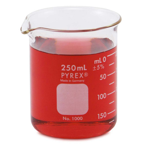 PYREX Beaker, Low Form, 250 ml