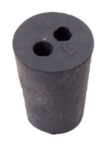 Rubber Stopper, #1, 2-hole