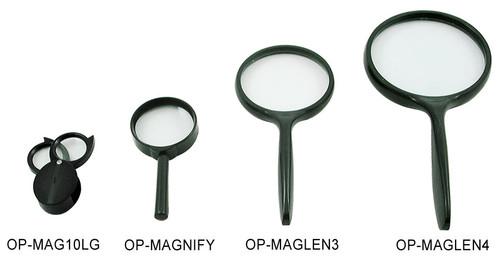 "Magnifying Glass, 3"", 2.5X Lens"