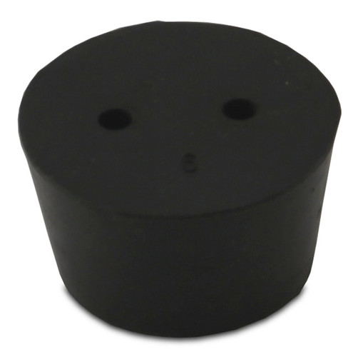 Rubber Stopper, #9, 2-hole