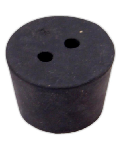Rubber Stopper, #8, 2-hole
