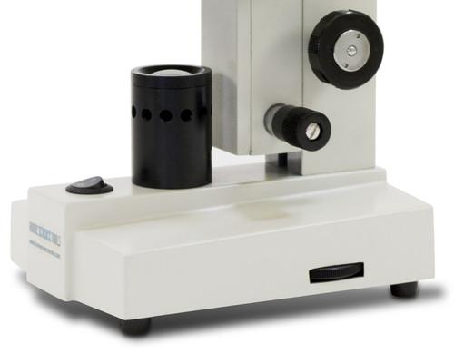 led microscope base with condenser and led illumination