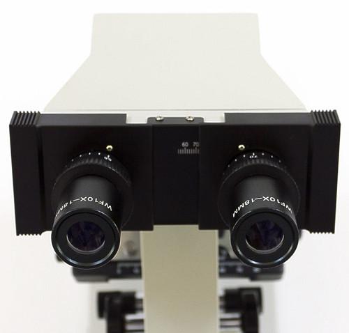 binocular microscope with inclined eyepieces and binocular inclined head
