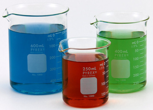 Pyrex Beakers, all sizes