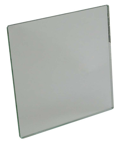 "Mirror, glass plane, 4""x 4"""