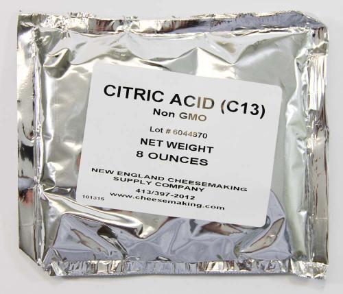 Citric Acid, food grade, 8 oz