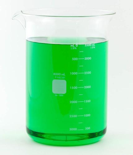 PYREX Beaker, Low Form, 4000 ml
