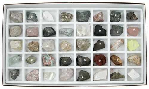Washington School Rock Collection, 40 Specimens