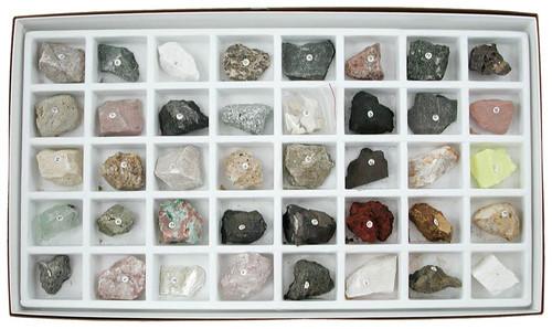 Washington School Rock Collection, 40 Specimens