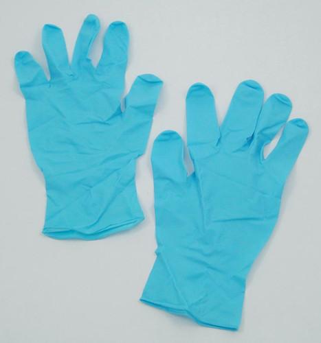 nitrile gloves for gram staining