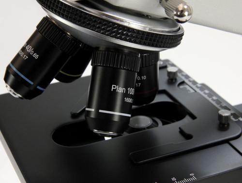 binocular microscope with plan optics