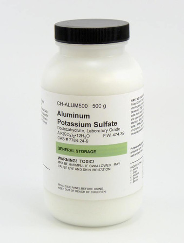 aluminum sulfate 500g bottle