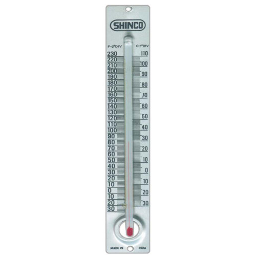 Thermometer, aluminum back