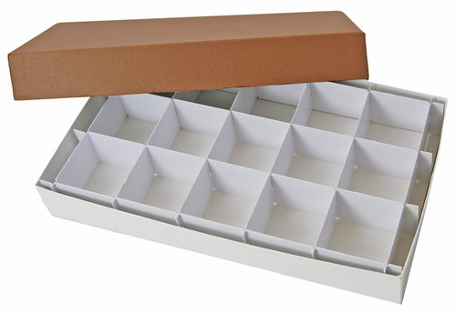 Collection display box, 15 compartments