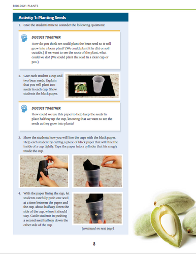 Explore Science sample page