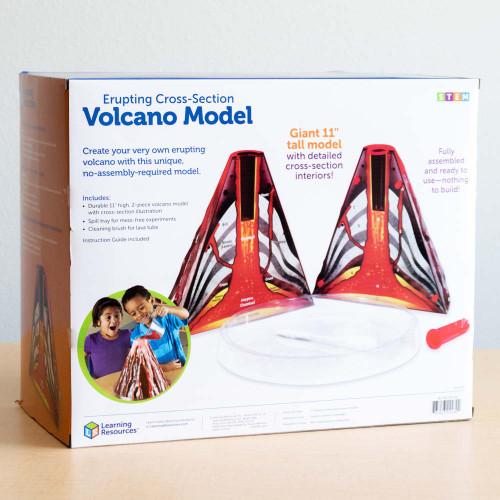 Erupting Volcano Cross-Section Model
