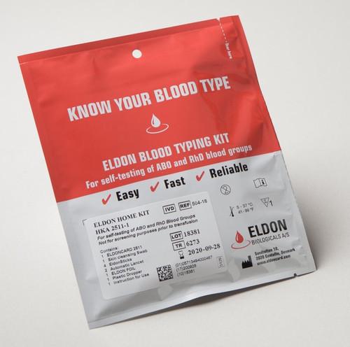 Eldoncard Blood Type Test Kit