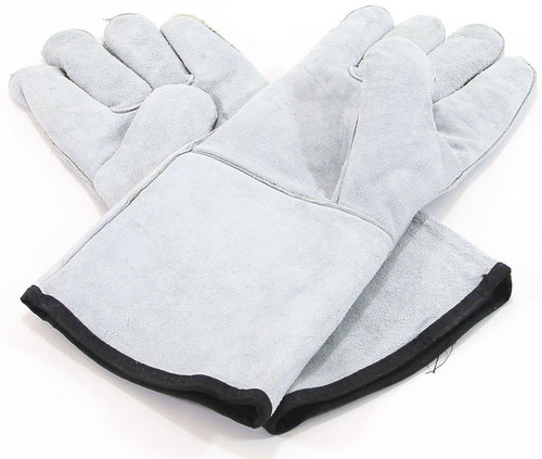 Heat-Resistant Leather Gloves