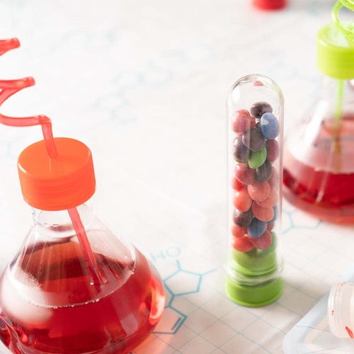 Flask Cup Science Party Favor, 8 Pack